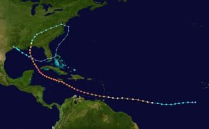 The track of Ivan hit the US 3 separate times, A long, and long-lived hurricane, it was